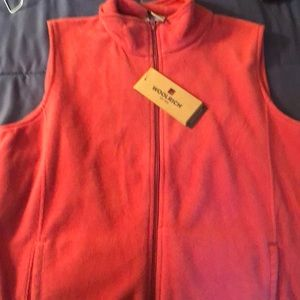 NWT Woolrich Ladies Fleece Vest Sz Large